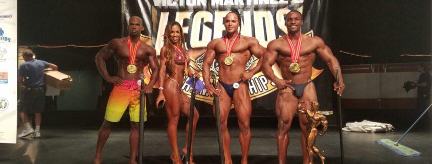 atletas dominicanos ganan en el Víctor Martínez Legends