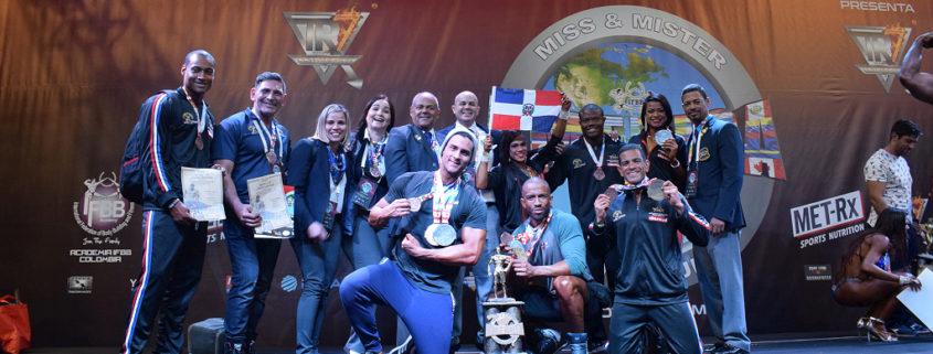 Delegación dominicana fisiculturismo