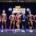 Los ganadores de los premios absolutos, Carlos Rivera, Annabel Pratt Guzmán, José Alberto Tejada David, Johan Manuel John Bueno, Michael Antonio de Jesús y Shadia Llinás, son premiados por, Tony Peña R., quien aparece al centro, en los extremos, Wendy Almonte y Bray Vargas en el VIII Mr Región Norte fisiculturismo y fitness 2018